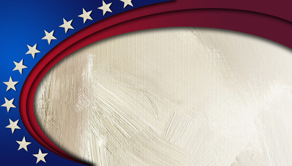 American Stars and Stripes abstract circular background