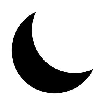 Crescent moon or night / nighttime flat icon for apps and websites