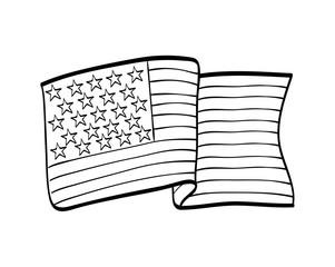 Usa design. flag  icon. vector graphic