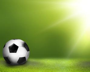 3D render football green grass soccer