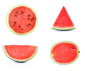 Set of Slice of watermelon on white background