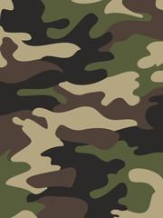 Camouflage pattern background. Woodland style.  illustration