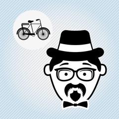 avatar hipster style design