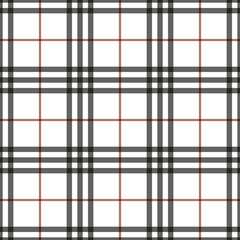 Tartan seamless pattern. Checkered geometric texture plaid. Fashion traditional scottish design. Classic british template wallpaper, wrapping, fabric or textile, material, flannel. Vector Illustration