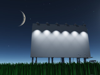 Night roadside billboard