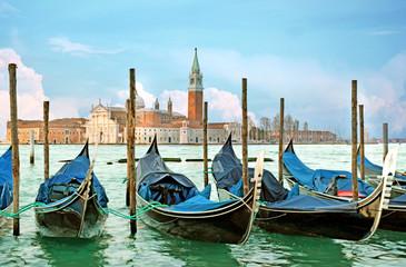 Italian Gondolas, Venice, Italy.