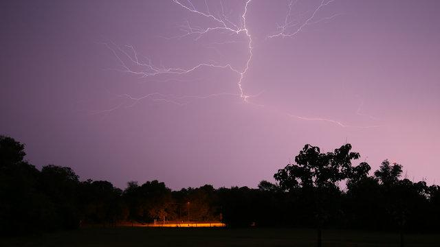 Nighttime lightening bolt