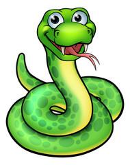 Snake Cartoon Character