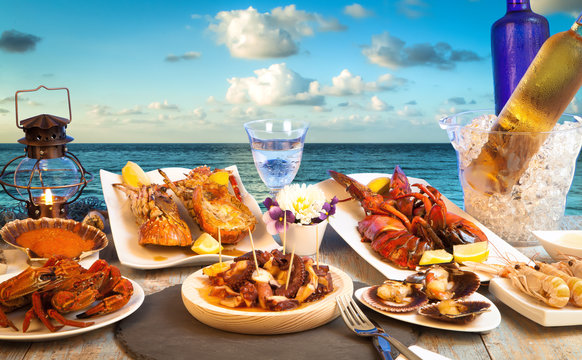 beachfront seafood