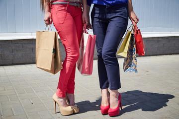 buying, feet, women
