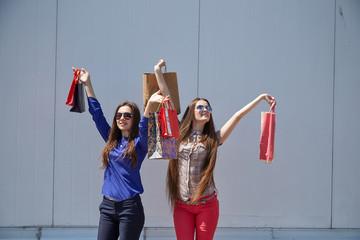 girl happy shopping