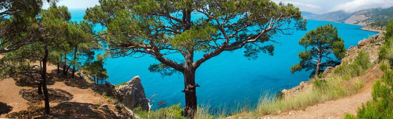 Panoramic views of the Black Sea coast