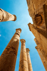 Ancient Jerash. Ruins of the Greco-Roman city of Gerasa,  Jordan.