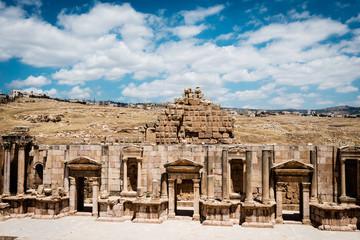 Theater of the Ancient Roman city of Gerasa, Jerash, Jordan