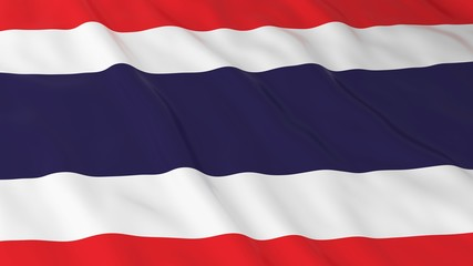 Thai Flag HD Background - Flag of Thailand 3D Illustration