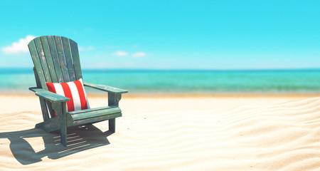 Sedia sdraio sulla spiaggia mere vacanze