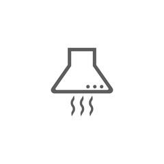 Vector illustration of kitchen hood icon