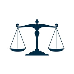 Blue Scale of Justice - Law Logo