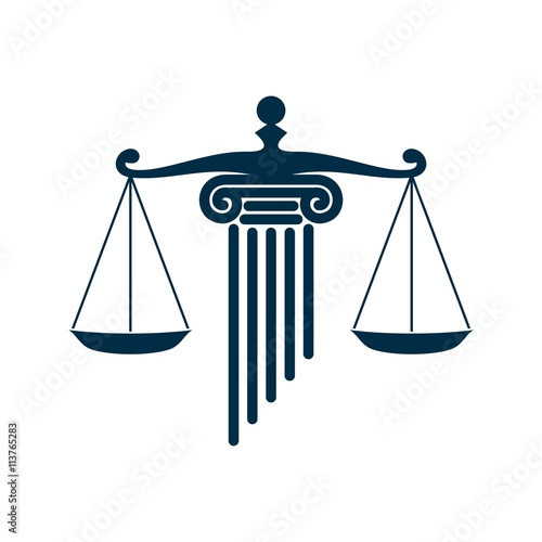 scale of justice and pillar law logo v 2 stock image and royalty rh fotolia com modern scales of justice logos scales of justice logo free