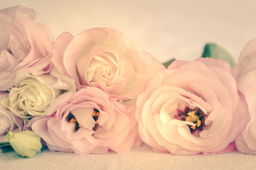 Gentle Colors of Vintage Flowers Background