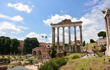 Temple of Saturn ruins on Roman Forum