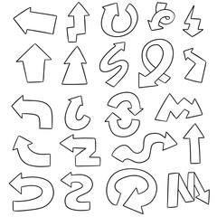 vector set of arrow