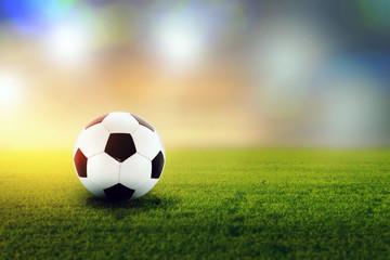 Fußball im Stadion.