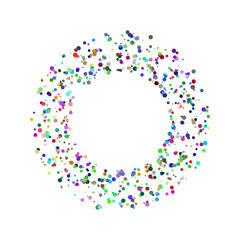 Colorful vector circles and squares frame