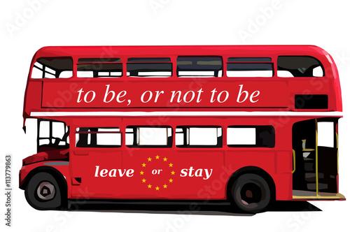 brexit london bus stockfotos und lizenzfreie vektoren auf bild 113779863. Black Bedroom Furniture Sets. Home Design Ideas