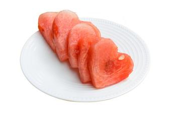 Five piece of watermelon
