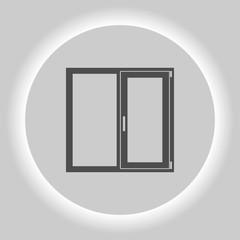 Flat paper cut style icon of modern window