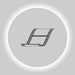 Vector blank film strip icon