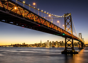 Bay Bridge in lights