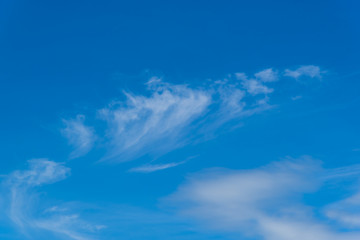 Blue sky with fluffy clouds fluffy
