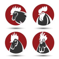 Chicken symbol vector