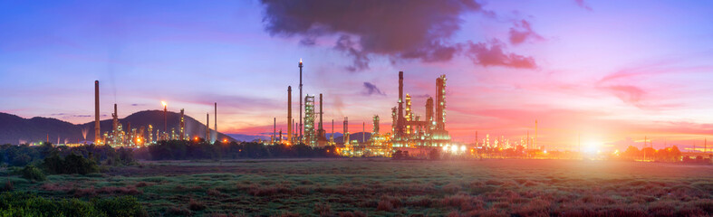 Oil refinery industry , with oil storage tank