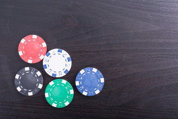 Poker chips for casino game