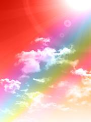 空 虹 風景 背景