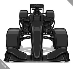 front view vector fast cartoon formula race car illustration art