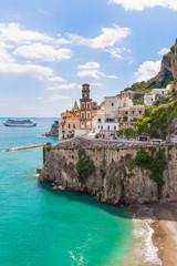 Beautiful small village of Atrani, Amalfi coast, Campania region, Italy