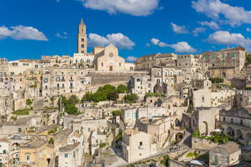 Beautiful town of Matera, Unesco heritage, Basilicata region, Italy