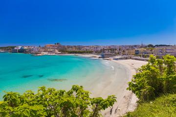 Beautiful town of Otranto and its beach, Salento peninsula, Puglia region, Italy