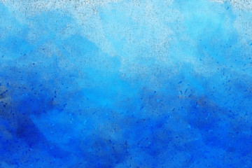 Abstract colourful watercolour background in shades of blue