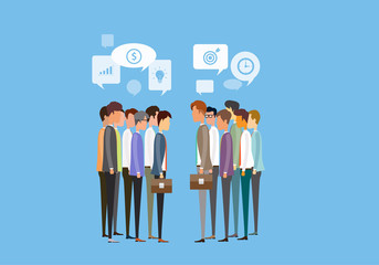 group people business meeting and business deal concept