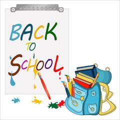 back to school banner, sign, Schoolbag