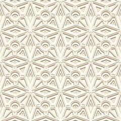 White ornamental background, seamless pattern