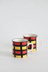 Coffee - Mondrian style Mugs