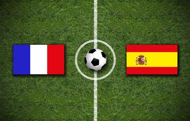 Frankreich gegen Spanien