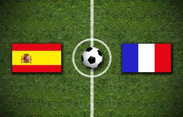 Spanien gegen Frankreich