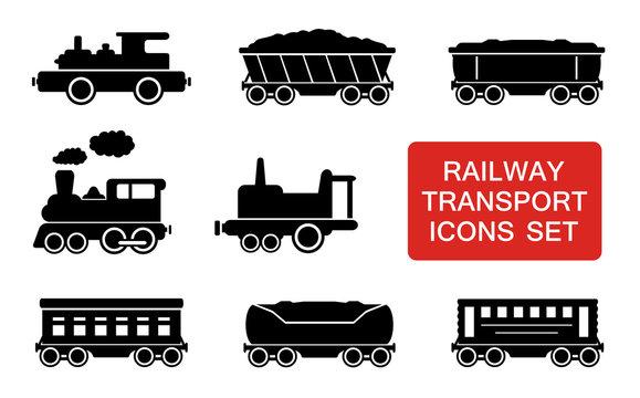 railway transport icons